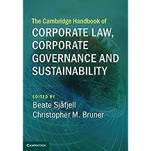 The Cambridge Handbook of Corporate Law, Corporate Governance and Sustainability (Cambridge Law Handbooks) (English Edition)
