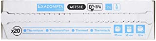 Exacompta 40642E 包装(带 20 个收银纸卷,非常适合付款,57 x 30 毫米,1 层热,55 克/平方米,不含BPA)1 件装(1 x 20 个)白色