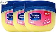 Vaseline 温和石油果冻 蓝色密封婴儿(100 毫升)(3 瓶装)