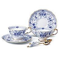 NARUMI 鳴海 鋸子 套裝 米蘭 藍色 210cc 2件套 茶 帶勺子 日本制造 9682-23278