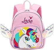 CAMTOP 可爱幼儿背包 儿童迷你动物卡通书包 日托尿布幼儿园男孩女孩 Unicorn-Pink S