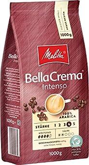 Melitta 咖啡全豆 纯阿拉比卡咖啡豆,浓烈香气,浓烈味道,强度4,BellaCrema Intenso,1kg