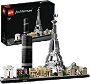 LEGO 乐高 21044 建筑巴黎模型积木套装,带埃菲尔铁塔和卢浮宫,Skyline系列,建筑收藏创意礼物