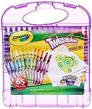 Crayola 绘儿乐 学生绘画文具套装 25色可拧转蜡笔礼盒04-2705