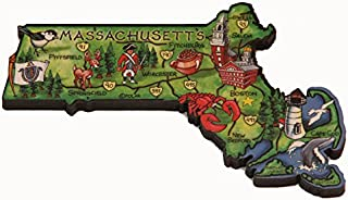 Massachusetts Decowood 特大木冰箱贴 5