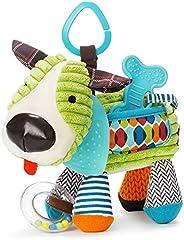 Skip Hop Bandana Buddies 活动玩具 适合婴儿和儿童的毛绒玩具 多色