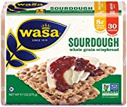 Wasa Sourdough Crispbread, 9.7 Ounce (Pack of 12)