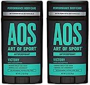 Art of Sport 男士止汗香体膏,胜利香味,运动型*,配有 Matcha,2.7 盎司 2 件装