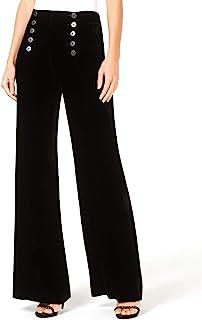 Nanette Lepore | Slinky Sailor 阔腿天鹅绒长裤 | 黑色