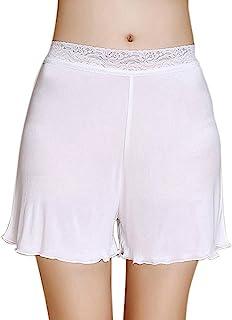 Zylioo 桑蚕丝蕾丝防滑短裤针织Pettipants 超薄弹力短裤打底裤*裤