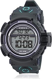 Vogue 男式 100M 防水树脂大数字潜水户外运动手表(按钮水下)