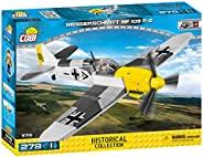 COBI 5715 梅塞施密特 BF109 活塞式战斗机 拼插玩具 飞机模型,黄色/灰色