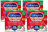 Mead Johnson 美赞臣 Enfagrow优质 欧米茄3 DHA益生元(Formerly 幼儿Next Step)幼儿营养奶粉,1-3岁,香草味,24盎司/ 约680.39克罐装(4罐) 来源于Enfamil的制