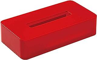 欧应惠 纸巾盒 红色 约长24.5×宽13×高7厘米 智能家居 II 纸架 纸巾盒 带磁铁 简单 日本制造