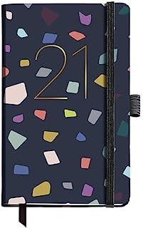MIQUELRIUS – 2021 大理石彩色年度日记 – 西班牙语,日页,尺寸 90 x 140 毫米,纸张 70 克,硬质封面内衬硬纸板,颜色:*蓝 / 多色