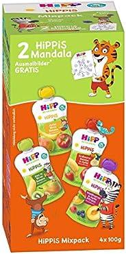HiPP 喜宝 挤压袋混合装,4种不同口味,无糖天然水果,4件 × 4袋/100克