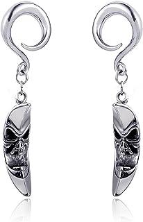 Casvort 2 件马鞍耳挂件重量不锈钢挂钩吊坠耳塞耳规穿孔身体饰品
