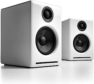 Audioengine A2+ 60W 供电台式机扬声器 | 内置 DAC 和模拟放大器 | 直接 USB 连接,3.5 毫米和 RCA 输入 | 包括电缆A2+BT-WHT Bluetooth - Wireless