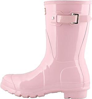 HUNTER Boot 女式原创短光泽雨靴 Foxglove