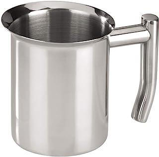Xavax 牛奶壶 400 毫升(不锈钢牛奶泡沫壶,牛奶壶可起泡,适合全自动咖啡机或炉灶上烹饪)银色