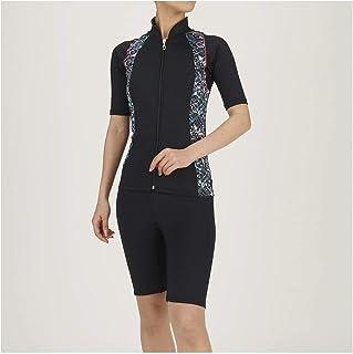 MIZUNO 美津浓 健身泳衣 健身用 女款 分体式(保温/短袖) N2JG0845