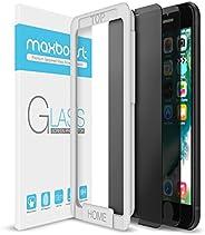 iPhone 8 7 屏幕保护膜,Maxboost【2 件装】钢化玻璃隐私屏幕保护膜适用于 iPhone 8、iPhone 7 2016 2017 防间谍/开裂/指纹,适合大多数外壳 99% 触精确 - 隐私黑色