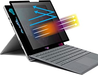 MUBUY 为 Microsoft Surface Laptop GO 12.4 英寸隐私屏幕保护膜,可拆卸隐私过滤器和 PET 防尘板,适用于 2021 2020 新款Surface Laptop Go 12.4 英寸防蓝光/防间谍过滤器