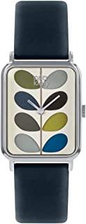 Orla Kiely 中性成人模拟经典石英手表皮革表带 OK2241 多种颜色