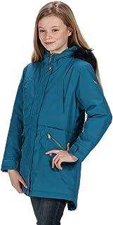 Regatta 儿童 Honoria 防水透气贴带接缝保暖衬里连帽派克大衣