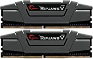 G.Skill 64GB DDR4 PC4-25600 3200MHz Ripjaws V 适用于 Intel Z170/X99 CL16 双通道套件 2x32GB 1.35V
