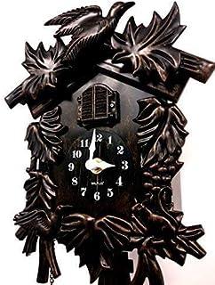 Walplus WC-2070 布谷卡时钟,古典,汉堡黑森林,布谷时钟,青铜,挂钟,36 x 20 x 11厘米