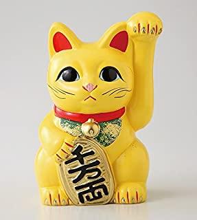 Ale-net) 13×11.5×19cm 风水手长 椭圆形猫 6号 左手