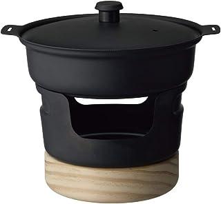 DOSHISHA 铁锅 迷你型 固体燃料 黑色 带食谱 LivE 470毫升