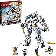 LEGO 乐高 71738 NINJAGO Legacy Zane's Titan Mech Battle Ninja 积木套装,带 Jay Golden 公仔和 2 个幽