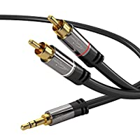 kabeldirekt 0.5米 Y Adapter CABLE 3.5?mm MALE > 2?rca MALE?–?PRO 系列