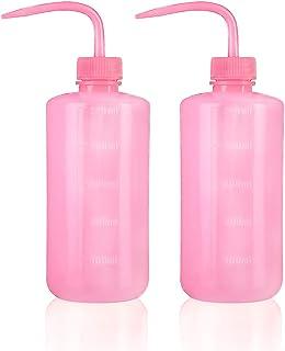 Oubest 挤压洗涤瓶多肉浇水壶 500ml 粉色喷水灌溉瓶挤压洒罐塑料清洗植物瓶 2 件装