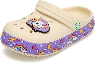 OHSNMAKSL 幼儿洞洞拖鞋 花园凉鞋 一脚蹬鞋 水鞋 运动鞋 卡通滑梯 适合男孩和女孩 沙滩泳池淋浴