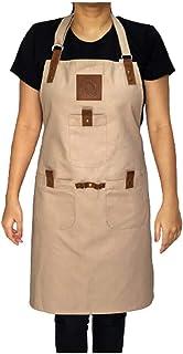 Texas Neuman 棉质后背交叉可调节围裙带口袋 厨师围裙