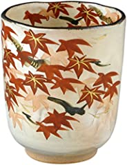 Aito 京烧 清水烧 花纪行 俊山窑 茶杯 红叶 USH855-11