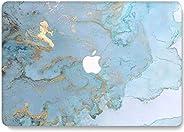 RQTX 笔记本电脑保护套适用于 2020 MacBook Pro 13 英寸(2020) 3D 哑光硬壳保护套型号 A2289 A2251 触控栏 - DL41 蓝色大理石纹