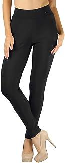 ToBeInStyle 女士高腰前口袋纯色正装裤