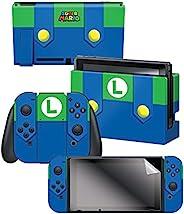 "Controller Gear 任天堂开关皮肤和屏幕保护膜套装,任天堂 - *马里奥 - 任天堂开关; Evergreen ""Luigi'"