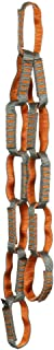 Fusion Climb 12 个单独环雏菊链 9.53 千克测试缝尼龙织带 101.6 厘米 x 1.91 厘米灰色/橙色