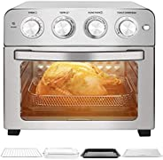 Schloß GTO23 空气炸锅,多功能烤面包机烤箱组合,适用于家庭,配有烘焙配件和配方,23升/24夸脱,不锈钢