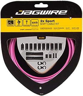 Jagwire 2X Sport Shift 电缆套装 适用于成人,男女皆宜,粉色,均码