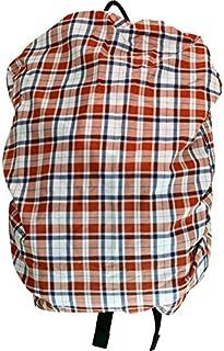 PLUS NICO 格子 背包套 红色 格子 7022