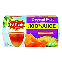 Del Monte Tropical Fruit Plastic Fruit Cups Made with Real Fruit Juice, 4.4 Ounce (Pack of 24)