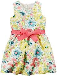 Carter's 女童花卉连衣裙 251g060, 黄色花