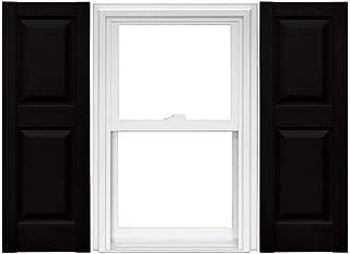 Mid America 凸起的面板乙烯基百叶窗(1 对) - 14.75 x 31 002 黑色