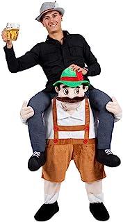 特朗普总统骑乘万圣节服装圣诞节肩部携带化妆舞会成人